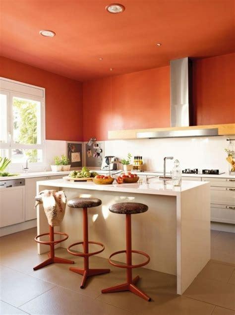 Einrichtung Kleiner Kuechemoderne Orange Kleine Kueche Design by 60 Wandfarbe Ideen In Orange Naturinspirierte Gestaltung