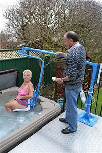 Hoisting Solution For Disabled Access To Hot Tubs From
