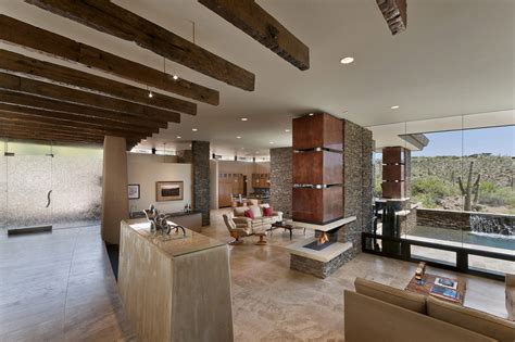 Open Plan Living, Glass Walls, Modern Home in Scottsdale