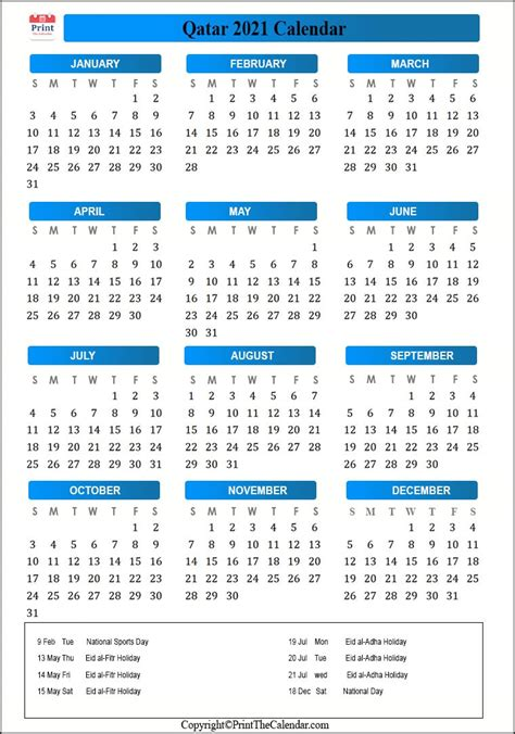 These dates may be modified as official changes are announced, so please check back regularly for updates. 2021 Holiday Calendar Qatar | Qatar 2021 Holidays