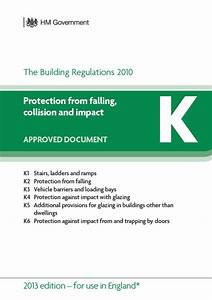 approved documents part k protection from falling With part a approved documents