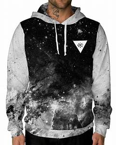 Space Minimalist Pullover Hoodie Black INTO THE AM