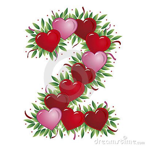 number  valentines heart royalty  stock