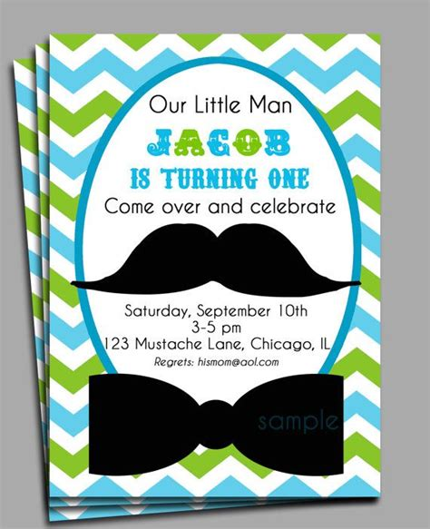 man mustache invitation printable mustache bash