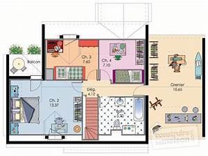Plan Maison A Etage : maison bretonne d tail du plan de maison bretonne faire construire sa maison ~ Melissatoandfro.com Idées de Décoration