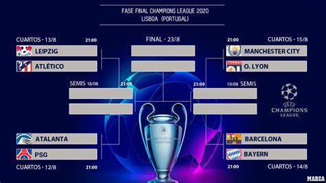 Champions league 2020/2021 table, full stats, livescores. Champions hoy: Champions League 2020: Calendario y horarios de todos los partidos, de cuartos de ...