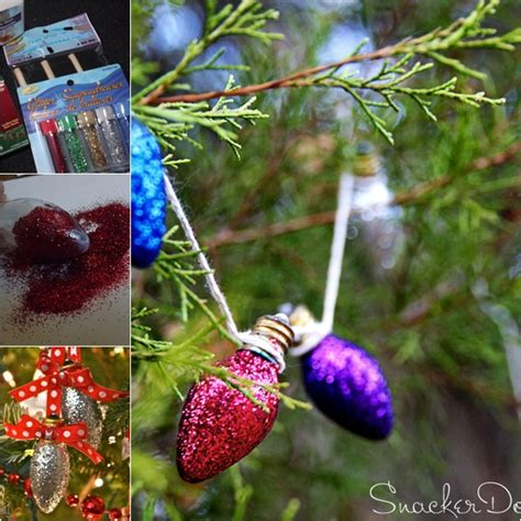 wonderful diy glitter light bulb ornaments  christmas