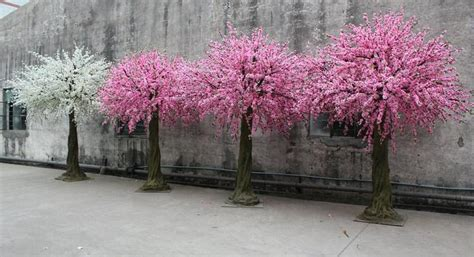 small cherry tree varieties indoor artificial cherry blossom tree white flower for wedding decoration buy artificial