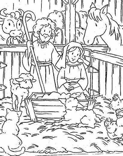 Nativity Coloring Scene Luna