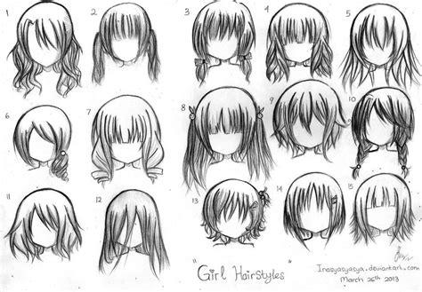 cool female anime hairstyles hair