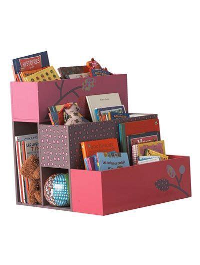Vertbaudet Bookcase by Rangement Enfant 3 Bacs Fille Papivole Framboise