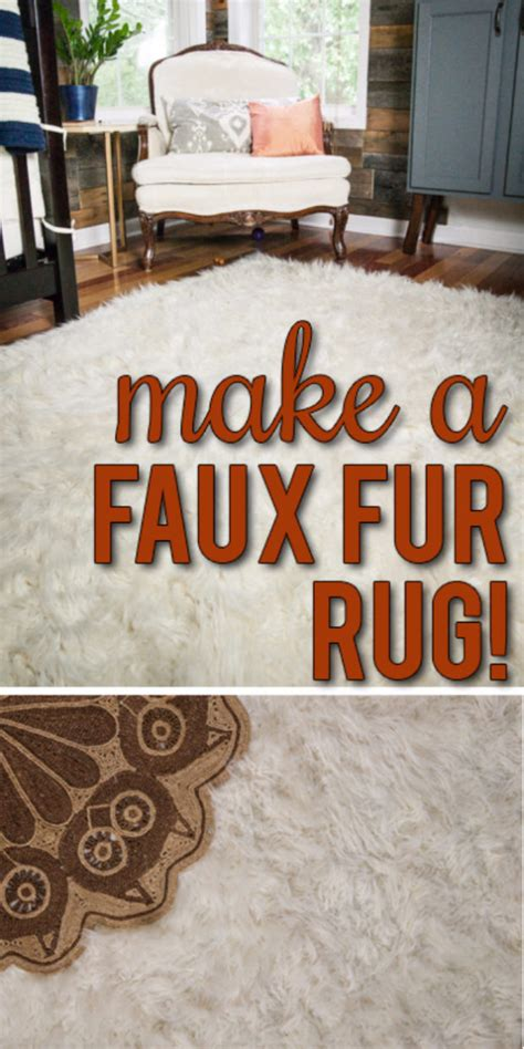 diy faux fur rug 15 chic diy rug ideas you can make right away style