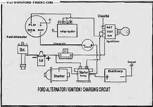 ford electronic voltage regulator ford truck enthusiasts With ford charging system diagrams ford alternator regulator wiring diagram
