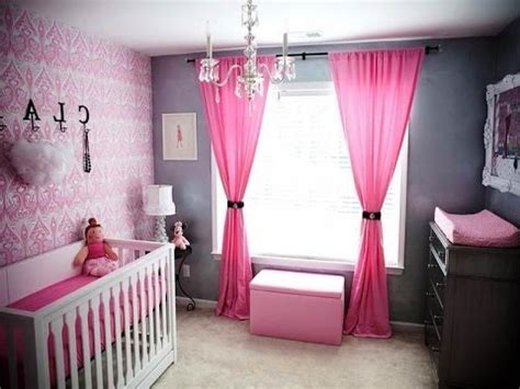 baby nursery ideas pink and grey