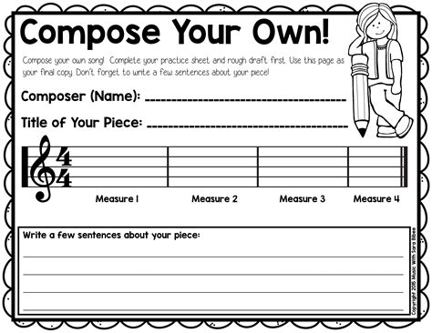 Free Composition Activity That Can Be Used For Recorders Or In General Music!  Older Kid Music
