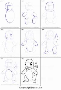 How To Draw Charmander Step By Step : Kids Coloring ...