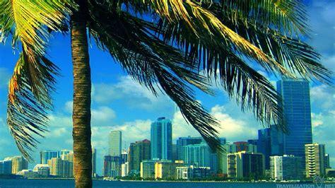 Miami Wallpapers The City Skyline Across The Beach