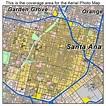Aerial Photography Map of Santa Ana, CA California