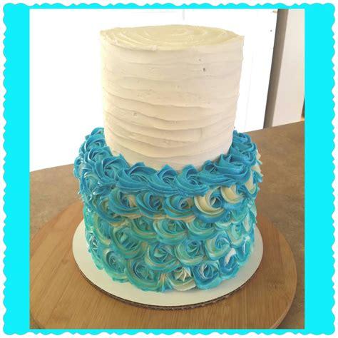 part  rosette tier cake piping  rosettes youtube