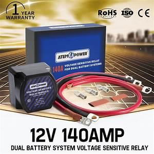 12v Dual Battery System Isolator 140amp Voltage Sensitive