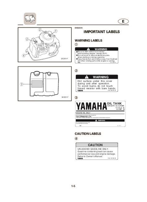 Yamaha Outboard Motor Owner S Manual by 2004 Yamaha Outboard Vx200c Vx225c Vx250c Boat Motor