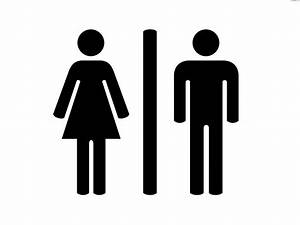 Toilet clipart male and female pencil and in color for Male female bathroom sign images
