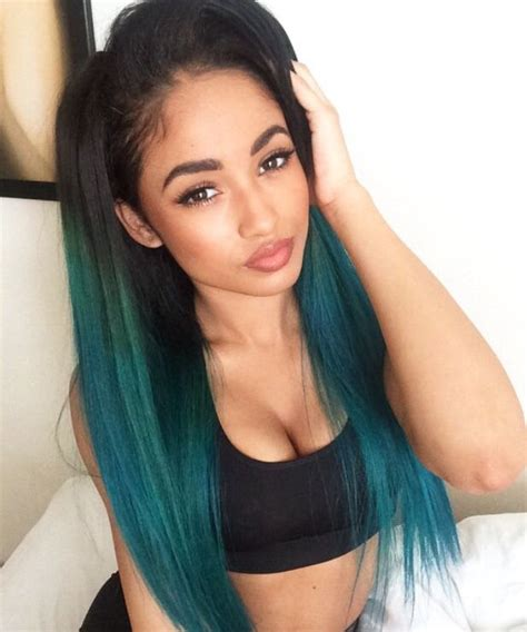 colored women  colored hair images