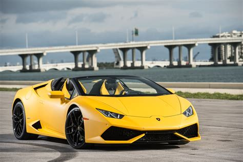 yellow lamborghini 2016 lamborghini huracán lp 610 4 spyder first drive review