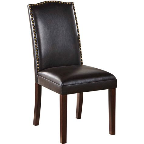 leather accent chair shaded walnuat halo brown leather