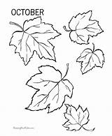 Coloring Fall Pages Leaves Autumn Leaf Printable Sheets Flower Tree Thankful Raisingourkids sketch template