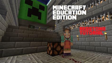 minecraft education edition redstone tutorial youtube