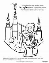 Lds Temple Coloring Pages Primary History Drawing Salt Lake Clipart Marriage Mormon Class Sealing Families Temples Church Drawings Printable Bride sketch template