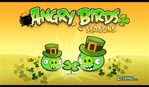 angry birds update version   st patricks day