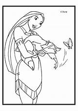 Pocahontas Coloring Pages Movie Clips sketch template