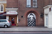 Street Art of Middle Eastern Woman, A5201, London Borough ...