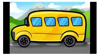 How to draw a school bus step by step - YouTube  Bus Drawing