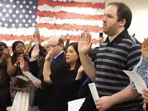 "New Naturalized Citizens Watch Trump Welcome Video: ""His ..."