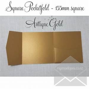 antique gold metallic pocketfold wedding invitations With pocket wedding invitations nz