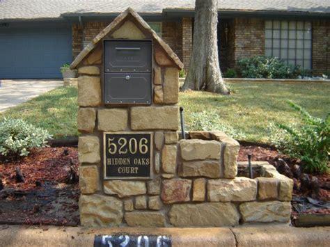 brick l post designs mailboxes pfleger masonry