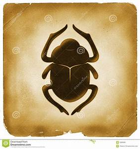 Scarab Beetle Egyptian Symbol Old Paper Royalty Free Stock ...