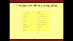 Nombres contables e incontables en inglés YouTube