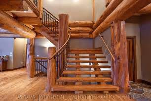 show homes interiors entrances hallways stairs pioneer log homes of bc