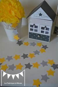 Guirlande Deco Chambre : guirlande toiles cousues papier carton gris jaune toile d coration chambre enfant b b gar on ~ Teatrodelosmanantiales.com Idées de Décoration