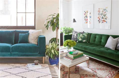 canape vert inspirations pour un canapé en velours joli place