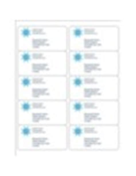 Avery 18663 Template by Templates Snowflake Shipping Labels 10 Per Sheet Avery