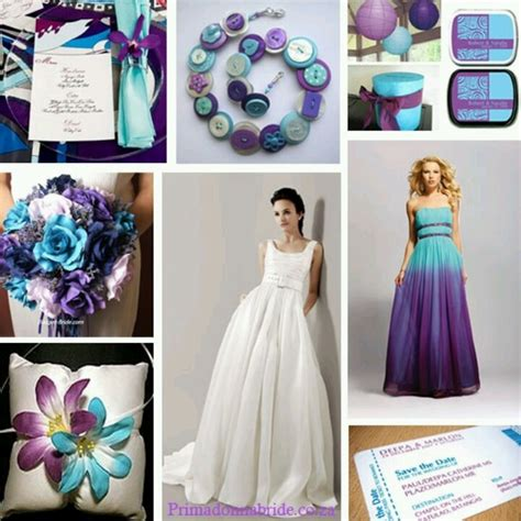 non peacock themed purple and teal weddings