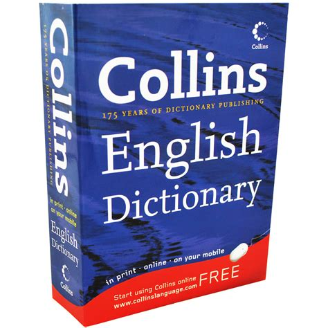 dictionary for collins english dictionary english language books at the works