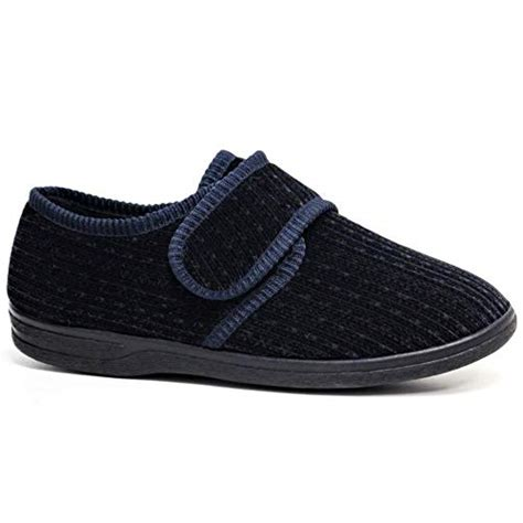 mens wide fit slippers amazoncouk