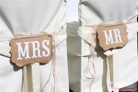 Dekoration Für Brautstühle Mr & Mrs Vintage Hussen