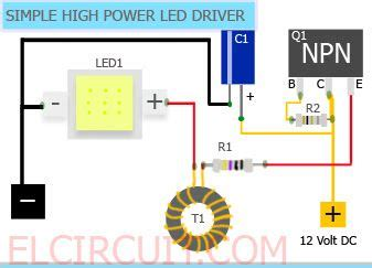 simple 10w high power led driver circuit electro power